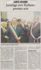 Presse Sainte Colombe avril 2009